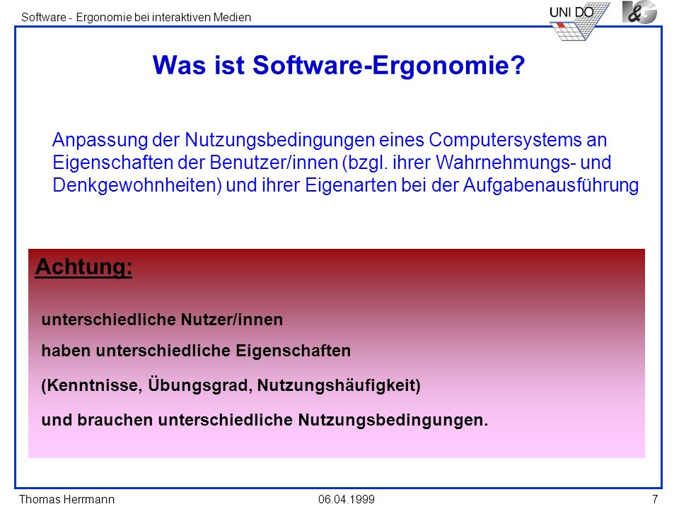 Was ist Software-Ergonomie