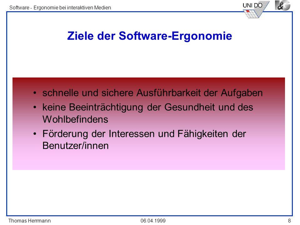 Ziele der Software-Ergonomie