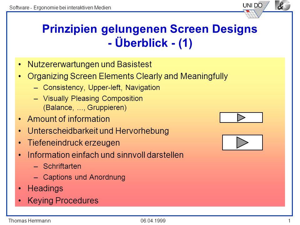 Prinzipien gelungenen Screen Designs - Überblick - (1)