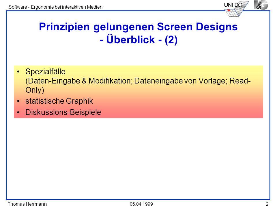 Prinzipien gelungenen Screen Designs - Überblick - (2)