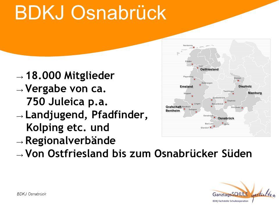 BDKJ Osnabrück 18.000 Mitglieder Vergabe von ca. 750 Juleica p.a.