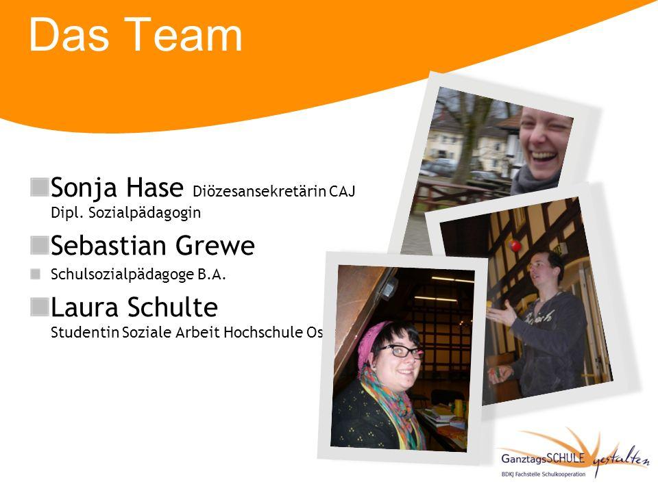 Das Team Sonja Hase Diözesansekretärin CAJ Dipl. Sozialpädagogin