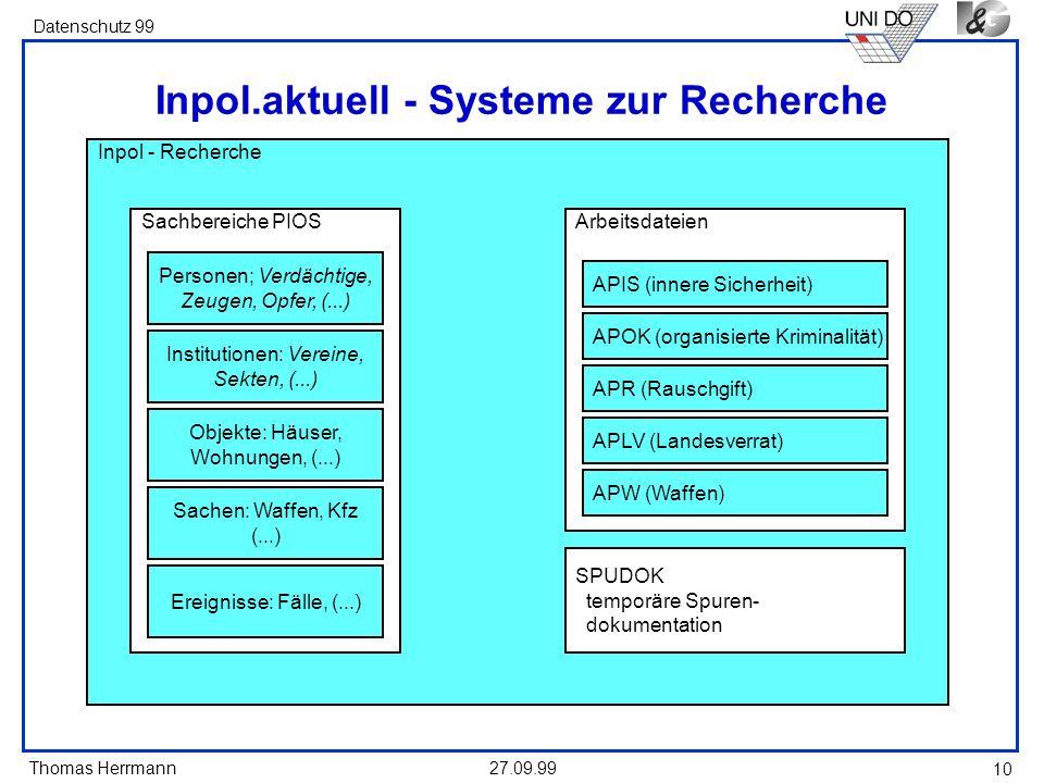 Inpol.aktuell - Systeme zur Recherche