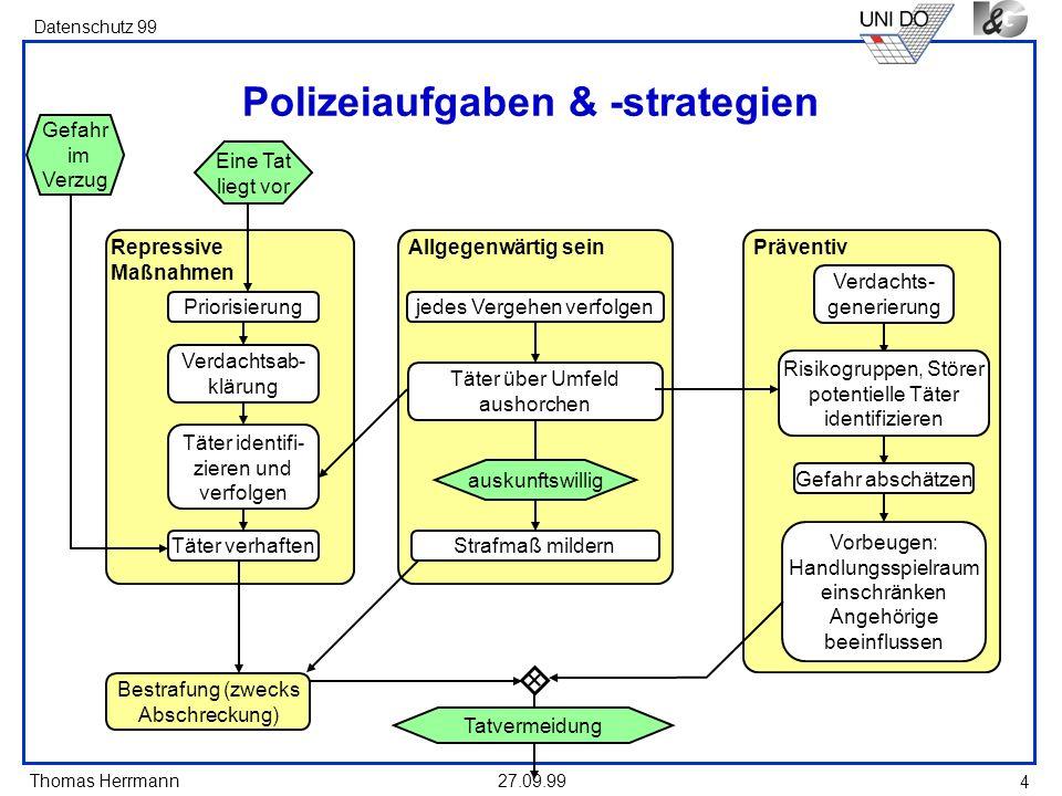 Polizeiaufgaben & -strategien