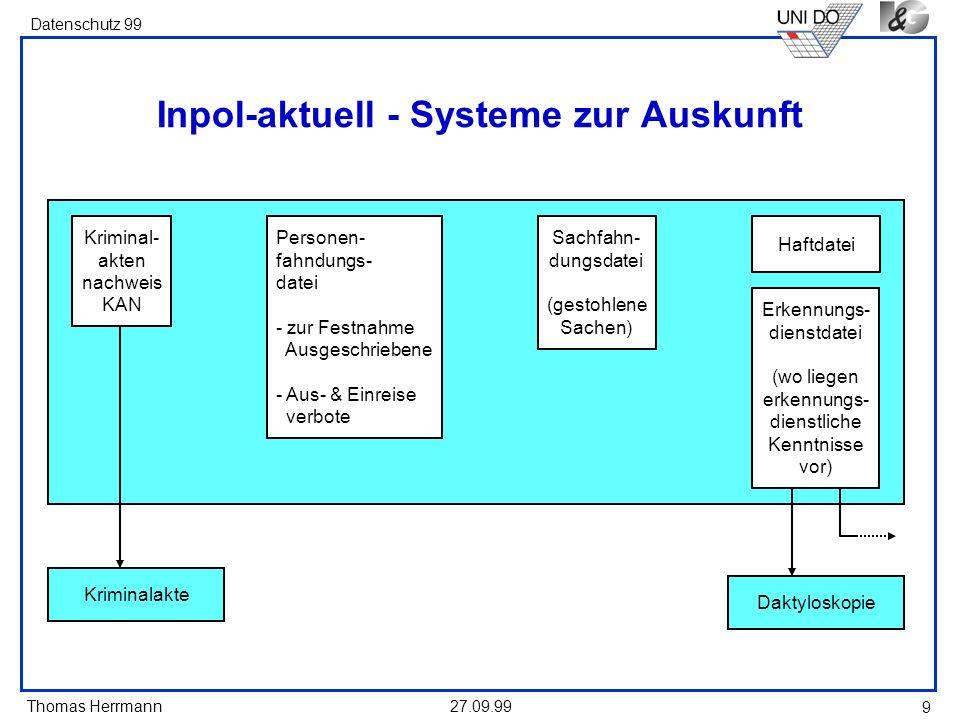 Inpol-aktuell - Systeme zur Auskunft