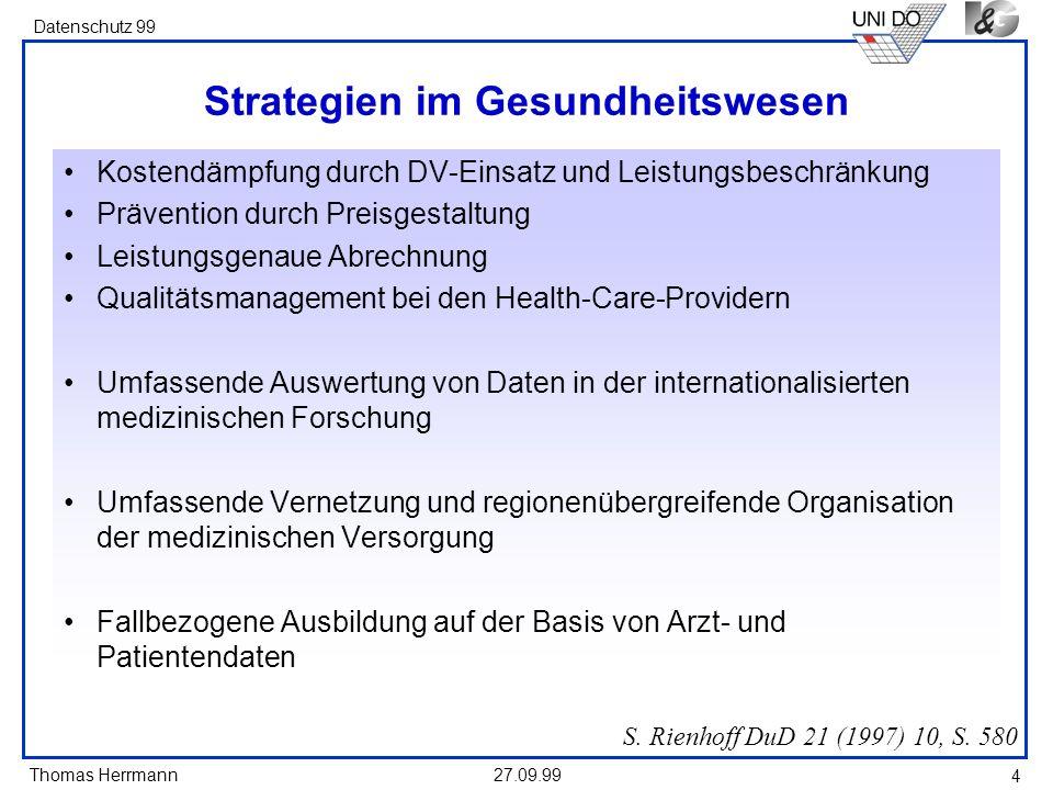 Strategien im Gesundheitswesen