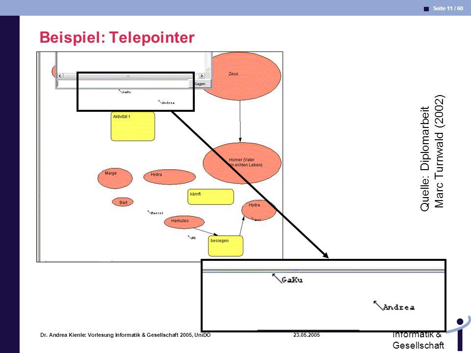 Beispiel: Telepointer