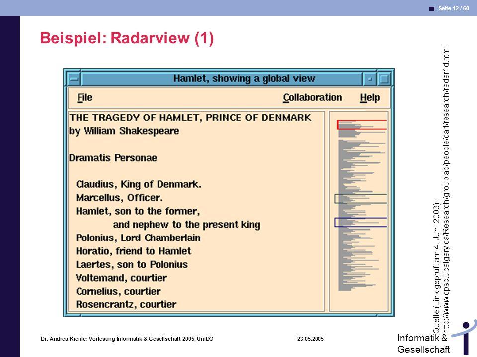Beispiel: Radarview (1)