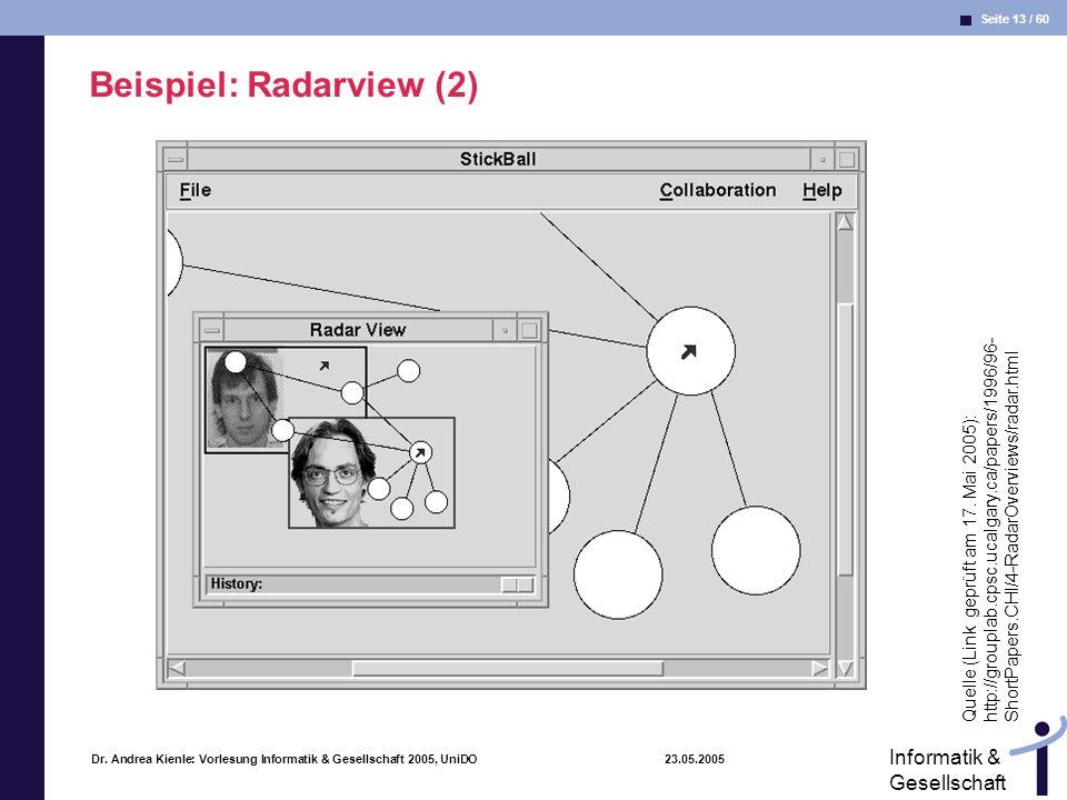 Beispiel: Radarview (2)