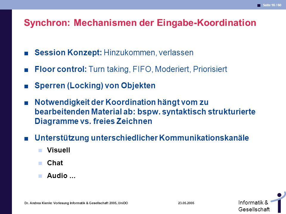 Synchron: Mechanismen der Eingabe-Koordination