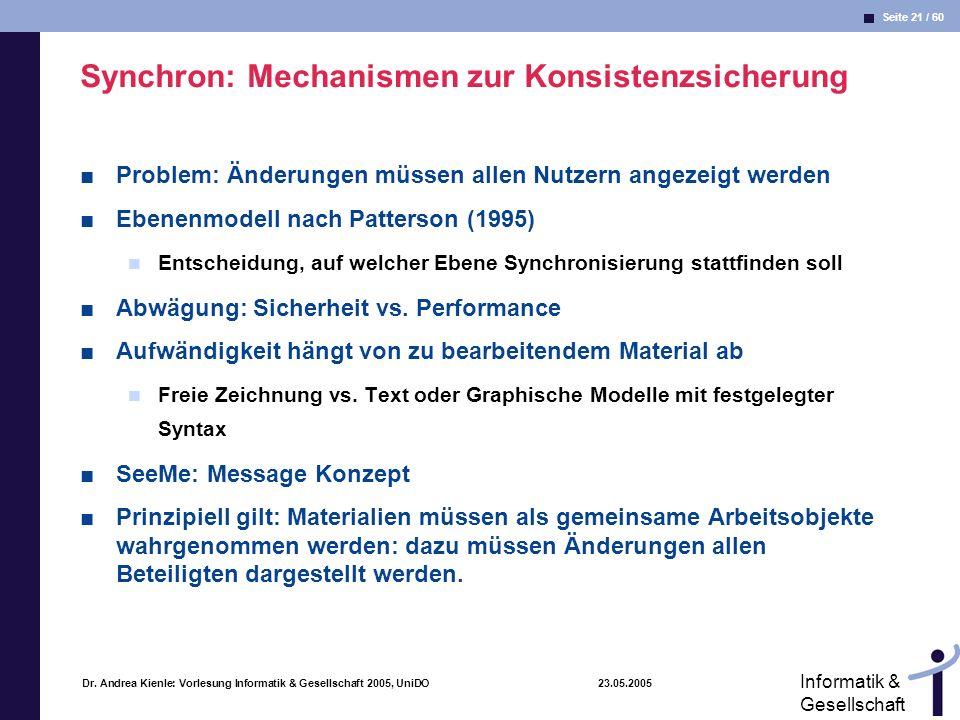 Synchron: Mechanismen zur Konsistenzsicherung