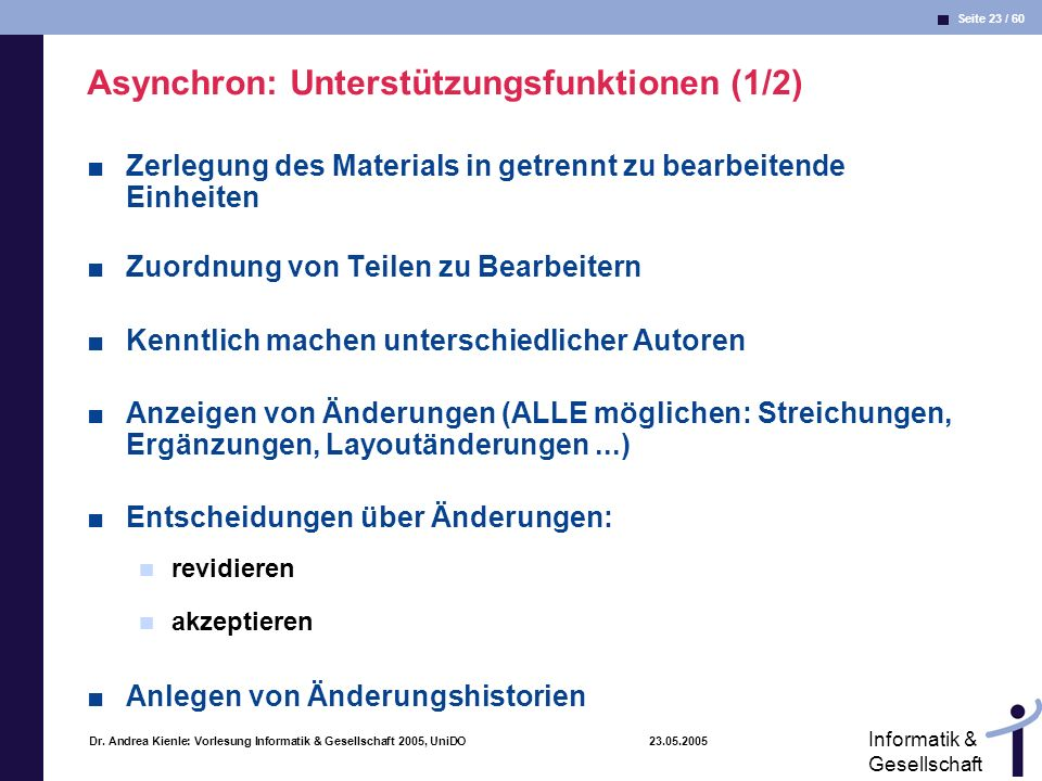 Asynchron: Unterstützungsfunktionen (1/2)