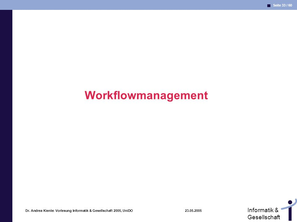 Workflowmanagement Dr.
