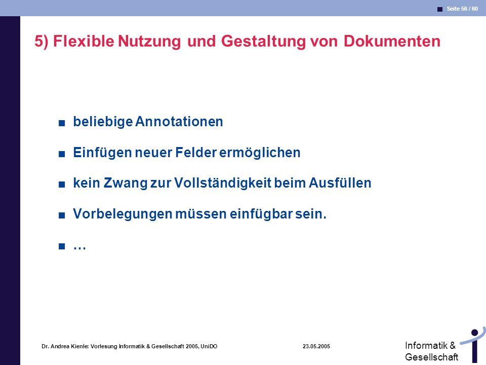 5) Flexible Nutzung und Gestaltung von Dokumenten