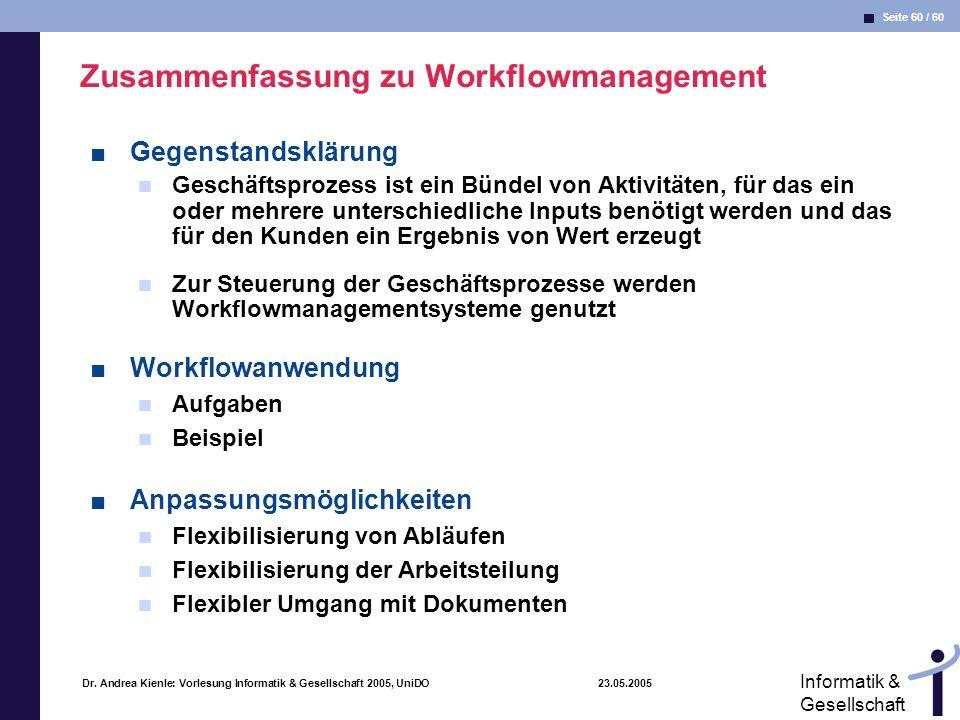 Zusammenfassung zu Workflowmanagement