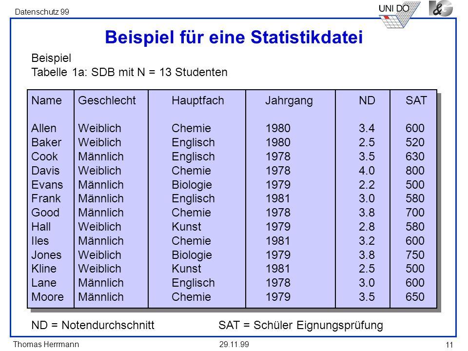 Beispiel für eine Statistikdatei
