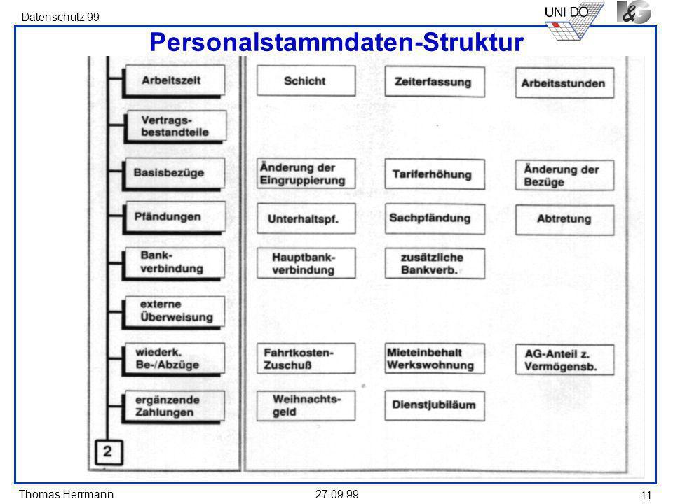 Personalstammdaten-Struktur