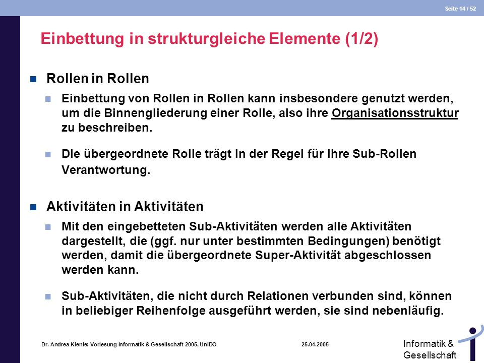 Einbettung in strukturgleiche Elemente (1/2)