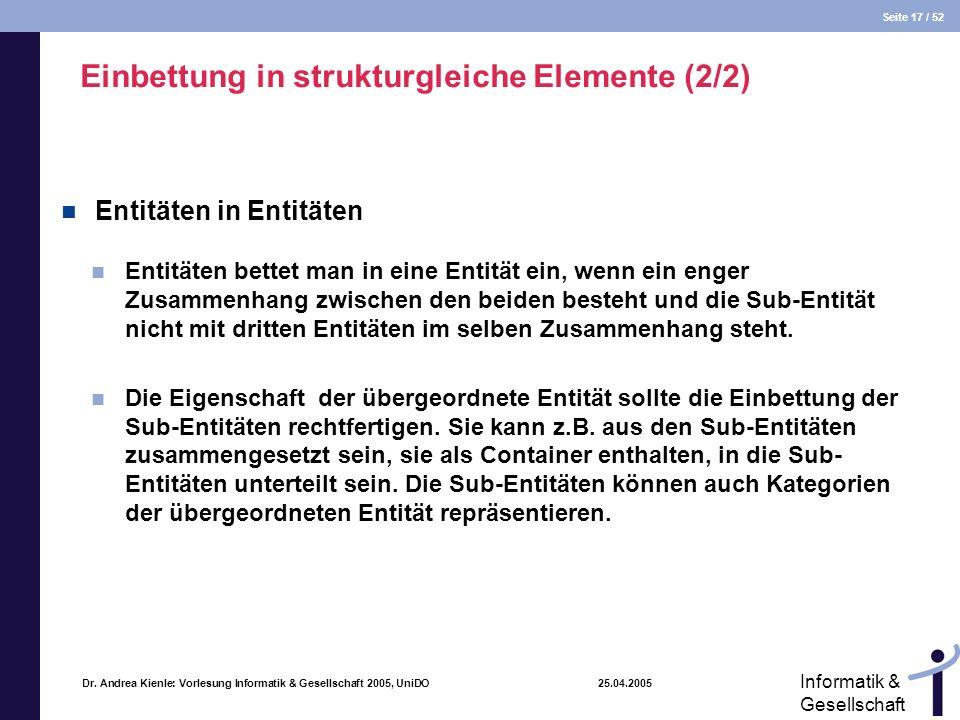 Einbettung in strukturgleiche Elemente (2/2)