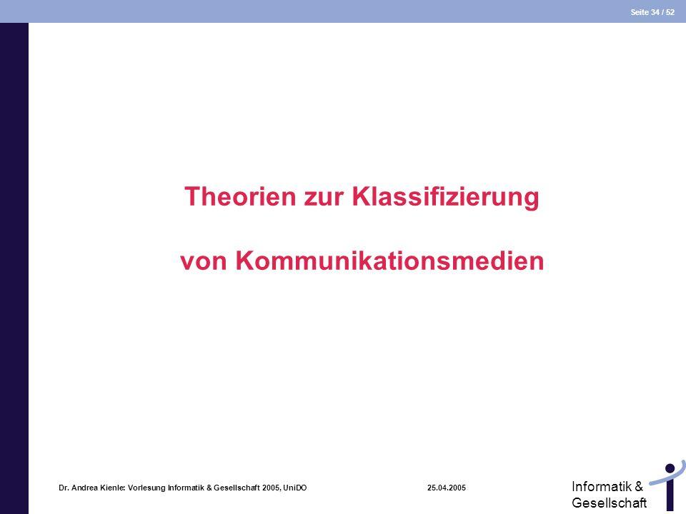 Theorien zur Klassifizierung von Kommunikationsmedien
