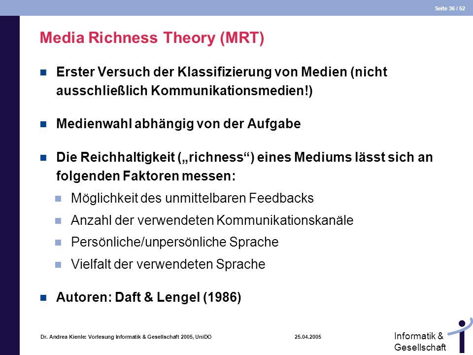 Media Richness Theory (MRT)