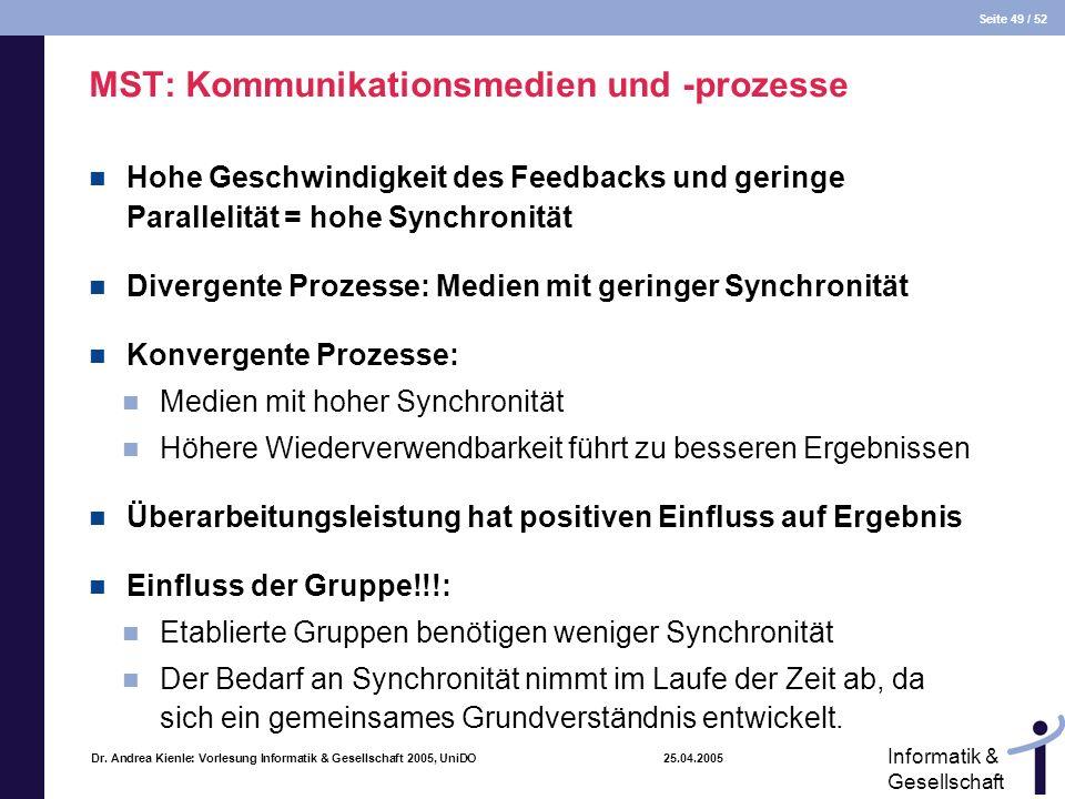 MST: Kommunikationsmedien und -prozesse