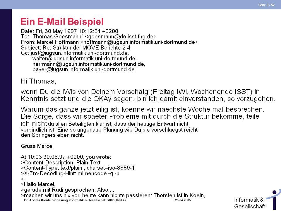 Ein E-Mail Beispiel Dr.