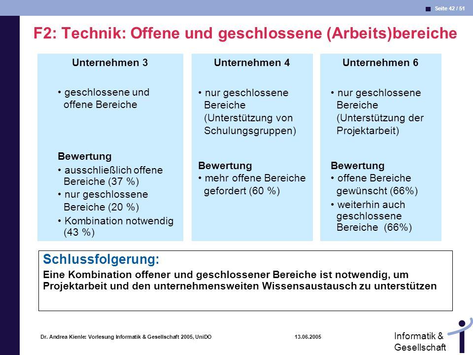 F2: Technik: Offene und geschlossene (Arbeits)bereiche