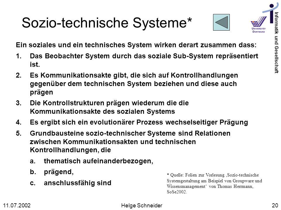 Sozio-technische Systeme*