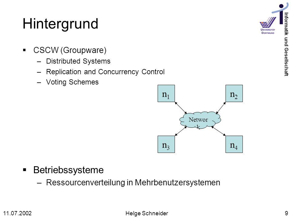 Hintergrund n1 n2 n3 n4 Betriebssysteme CSCW (Groupware)