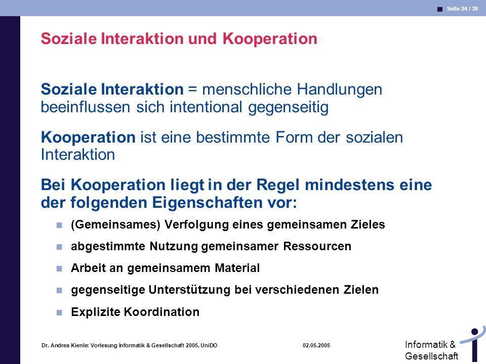 Soziale Interaktion und Kooperation