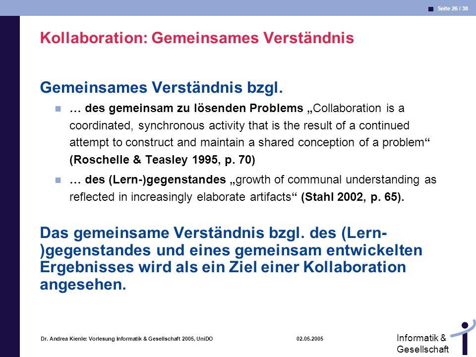 Kollaboration: Gemeinsames Verständnis