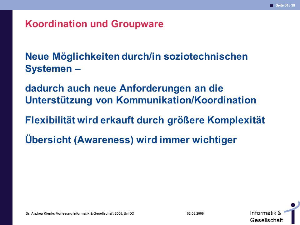 Koordination und Groupware