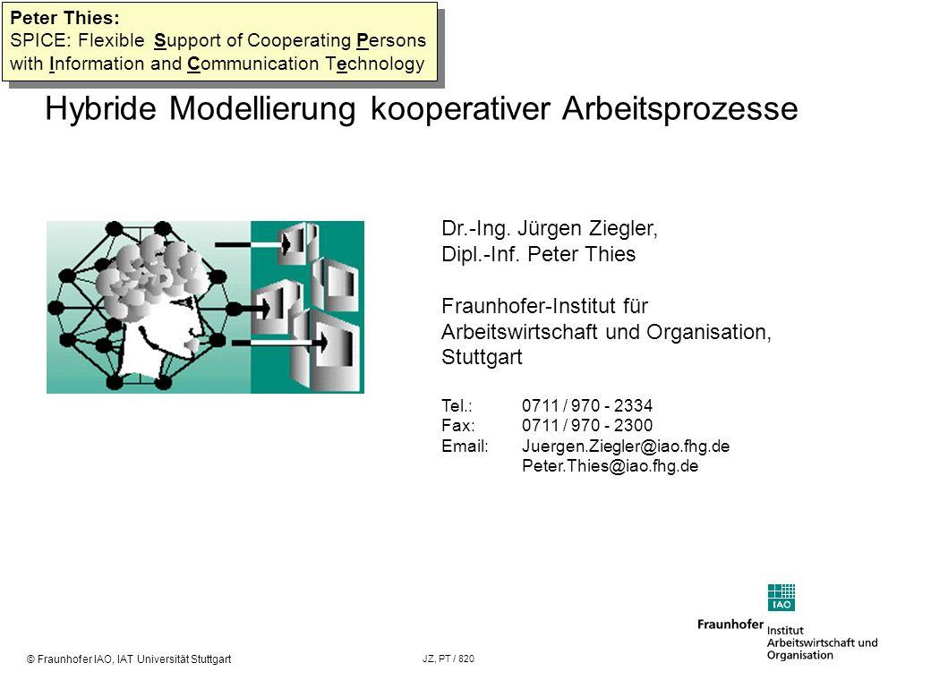 Hybride Modellierung kooperativer Arbeitsprozesse