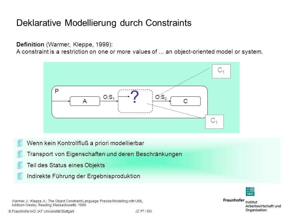 Deklarative Modellierung durch Constraints