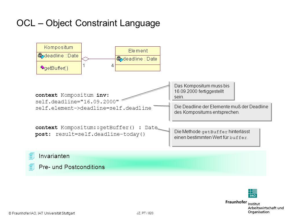 OCL – Object Constraint Language