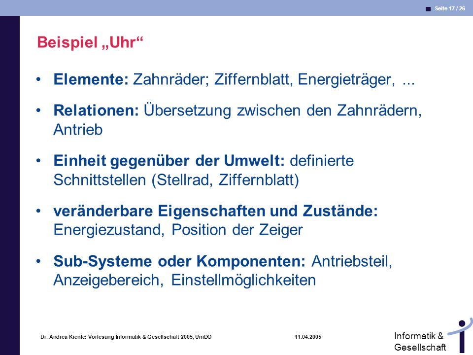 Elemente: Zahnräder; Ziffernblatt, Energieträger, ...