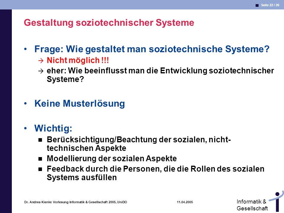 Gestaltung soziotechnischer Systeme