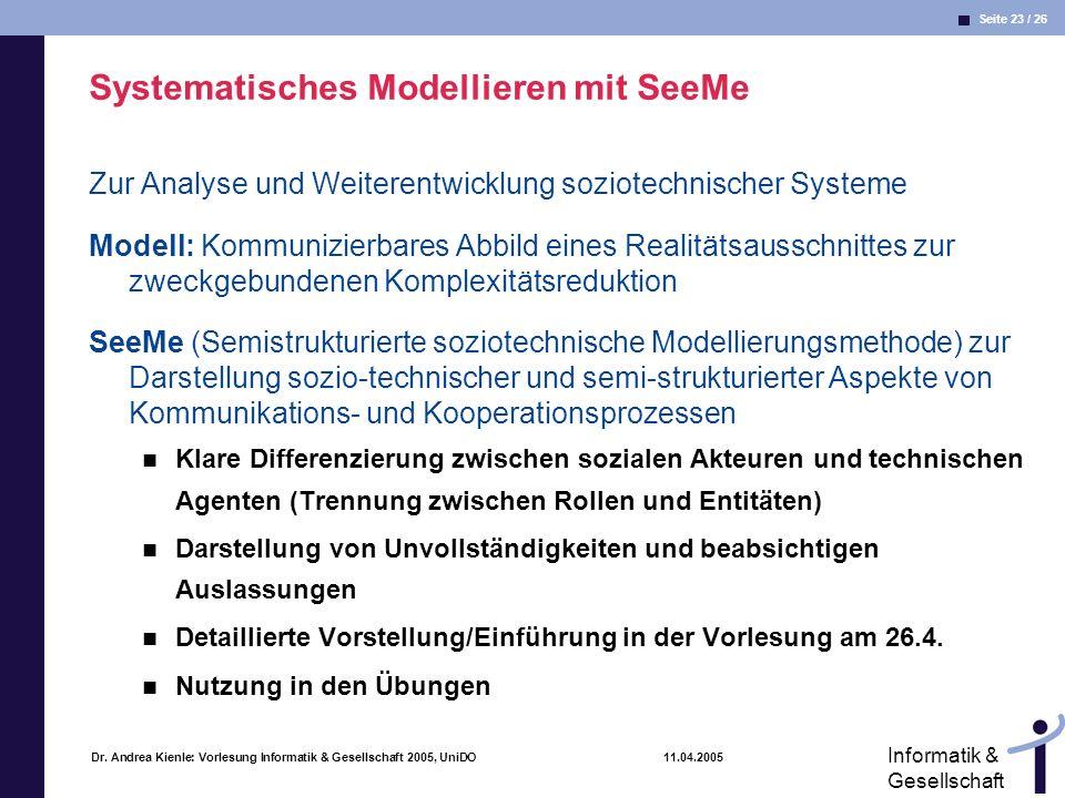 Systematisches Modellieren mit SeeMe