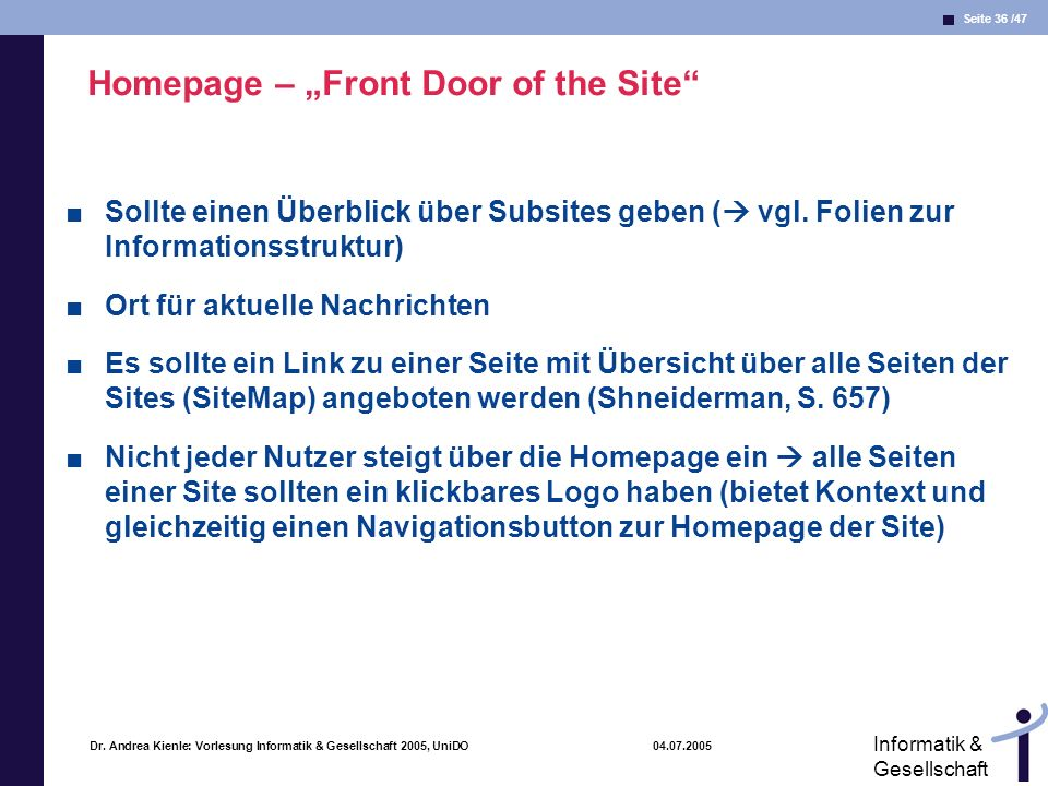 "Homepage – ""Front Door of the Site"