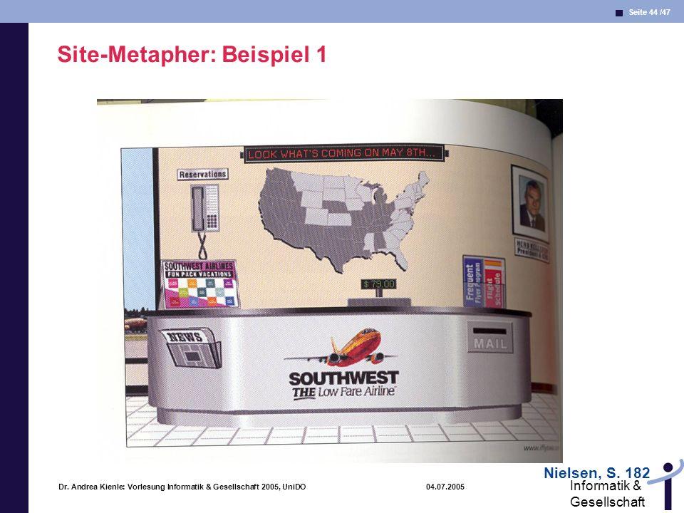 Site-Metapher: Beispiel 1