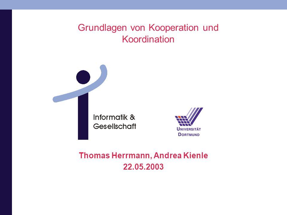 Grundlagen von Kooperation und Koordination