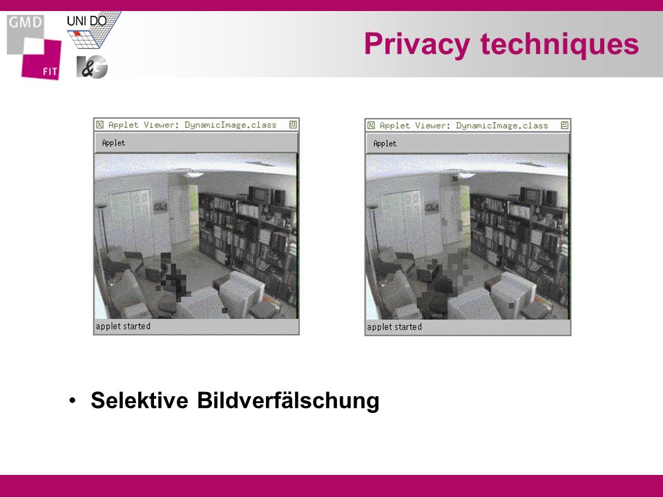 Privacy techniques Selektive Bildverfälschung