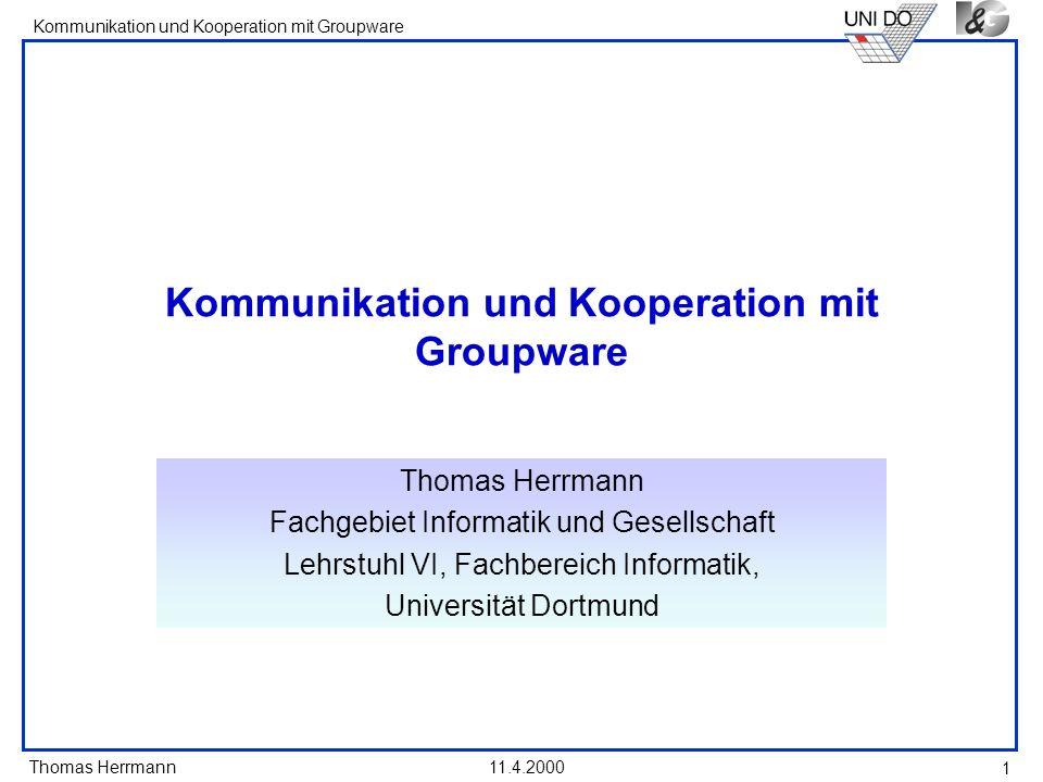Kommunikation und Kooperation mit Groupware
