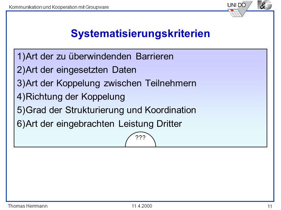 Systematisierungskriterien