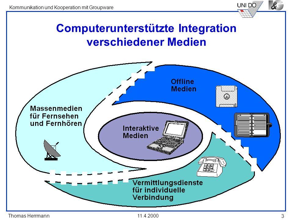 Computerunterstützte Integration verschiedener Medien