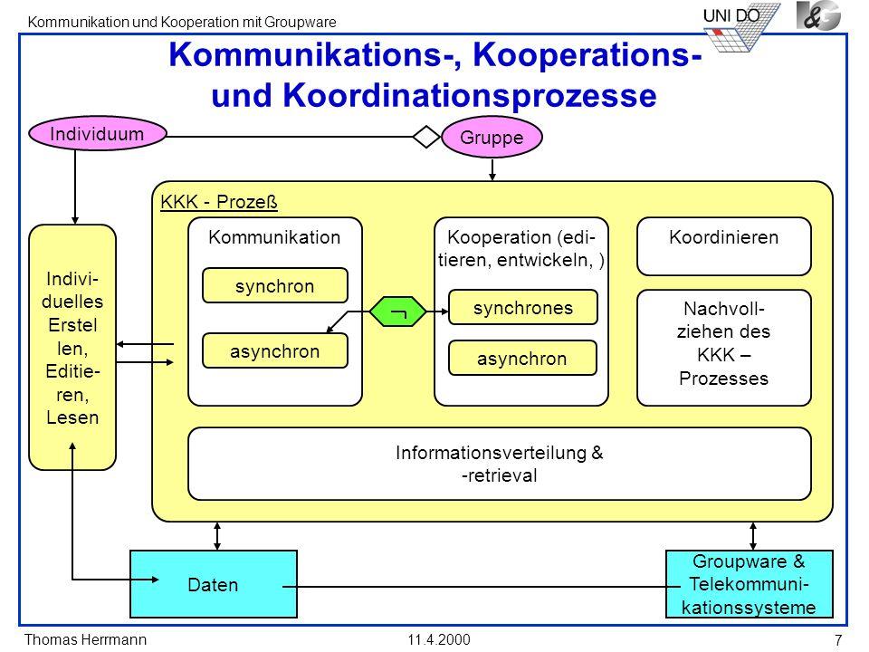 Kommunikations-, Kooperations- und Koordinationsprozesse