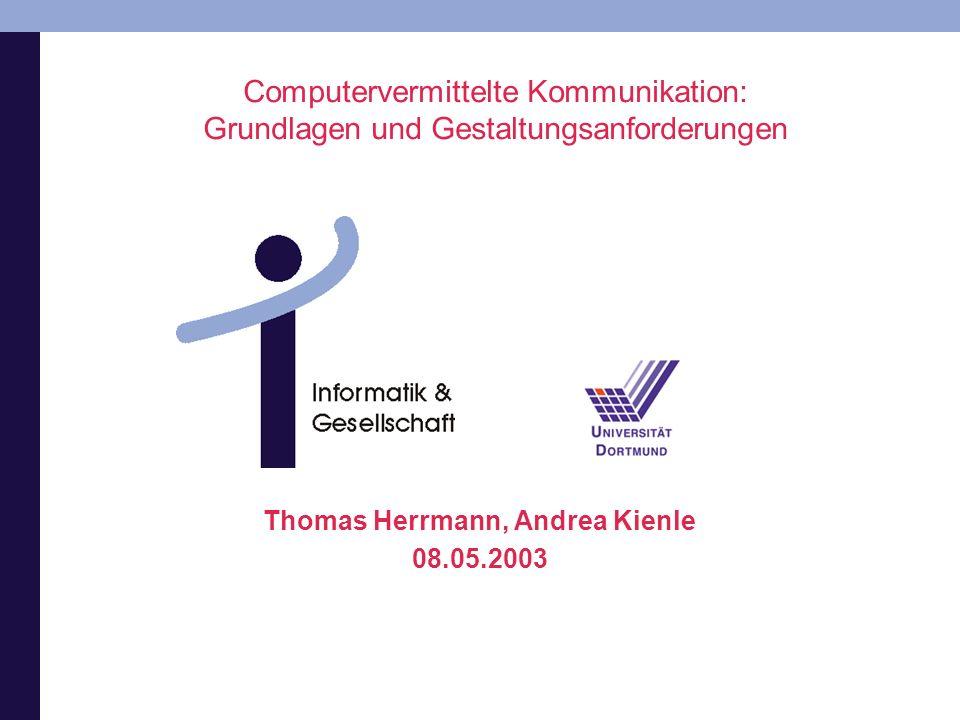 Thomas Herrmann, Andrea Kienle 08.05.2003