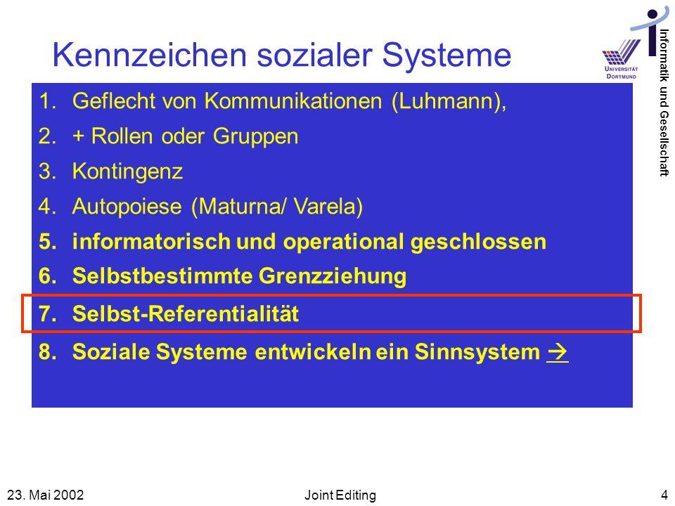 Kennzeichen sozialer Systeme