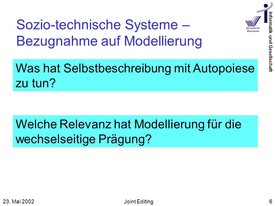 Sozio-technische Systeme – Bezugnahme auf Modellierung